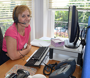 Hospice worker on advice line